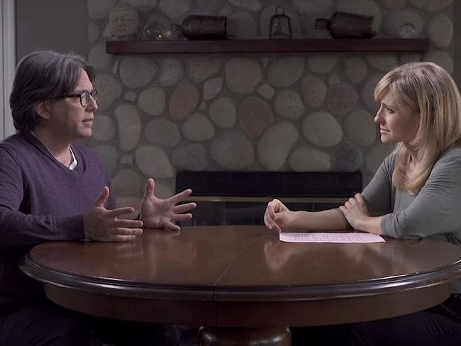 Allison Mack has allegedly been brainwashed by cult leader Keith Raniere. Picture: Keith Raniere Conversations/Youtube