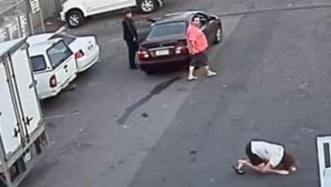 The two men fled the scene after knocking the 49-year-old man to the ground. Picture: Queensland Police
