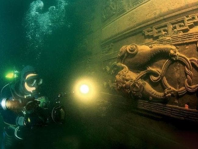 The city is around 40m underwater and perfectly preserved. Picture: CEN/australscope