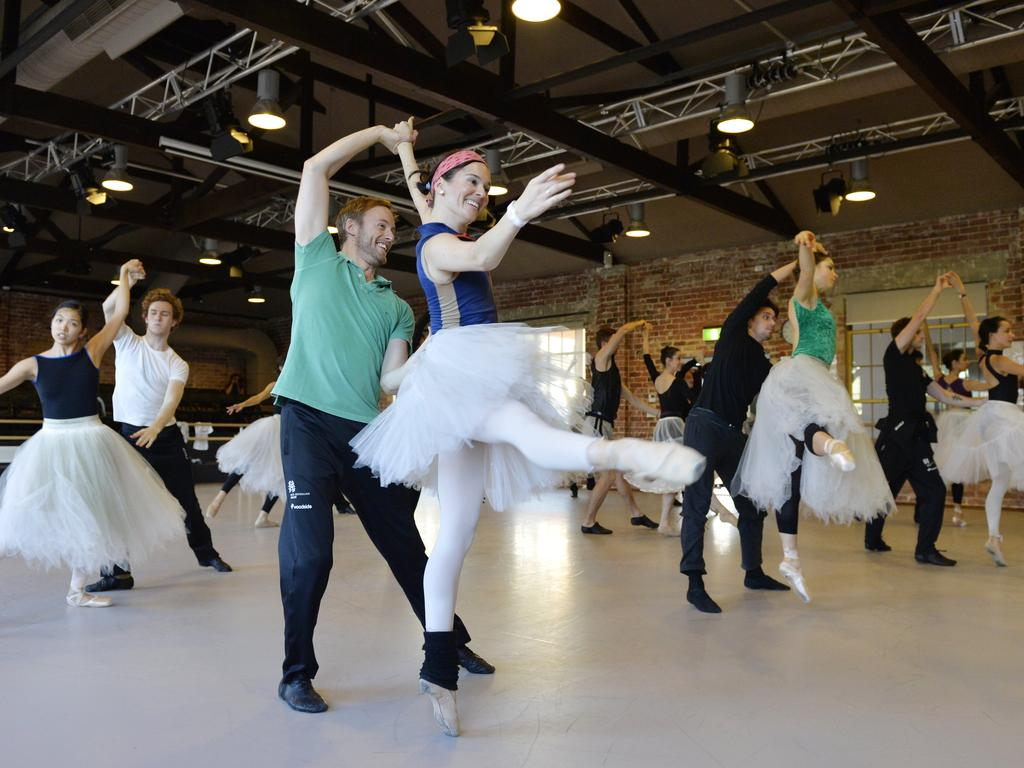 The WA Ballet company has been nominated for three Helpmann awards and are preparing for their next production: La Fille Mal Gardee (The Wayward Daughter). Picture: Stewart Allen.