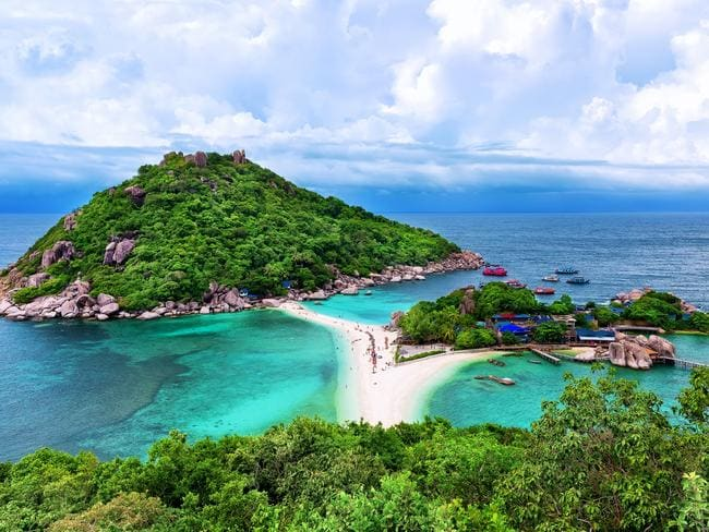 ESCAPE: EASTER BREAK  ..  white sand beach of Koh Tao, Thailand. Picture: iStock