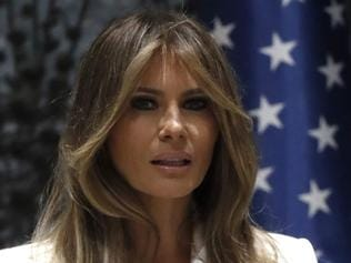 First Lady Melania Trump is seen at the President's Residence in Jerusalem on May 22, 2017. / AFP PHOTO / THOMAS COEX