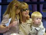 <p>Terri is seen at the memorial service for her husband at Australia Zoo in Beerwah, in September 2006. Steve Irwin was killed by a stingray barb during a diving expedition on the Great Barrier Reef. Picture: AP</p>