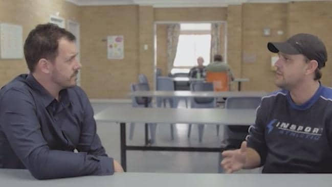 Mental Health worker Ash Baker and Aaron have worked together for a decade. Picture: ABC