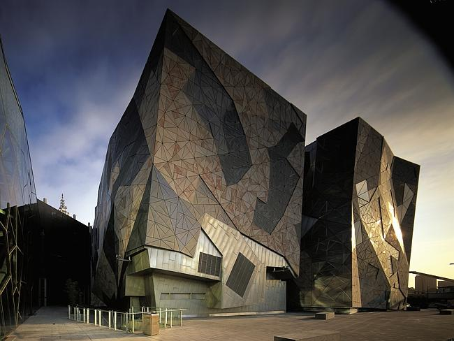 Federation Square now sits on the site of the Gas and Fuel towers. Picture: Herald Sun Im