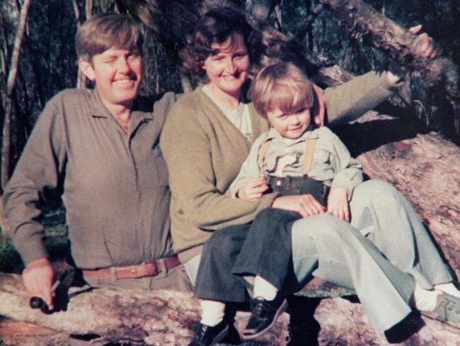 This photo of anti-drugs campaigner Donald (Don) Mackay with wife Barbara and son James, 3, was taken the week before he was murdered in 1977.