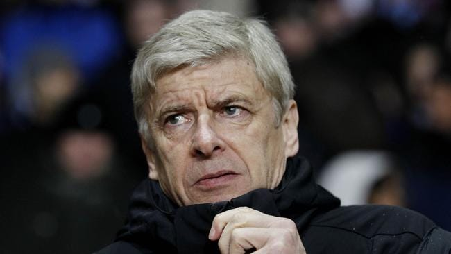 His face tells the story. Arsene Wenger in less happy times.