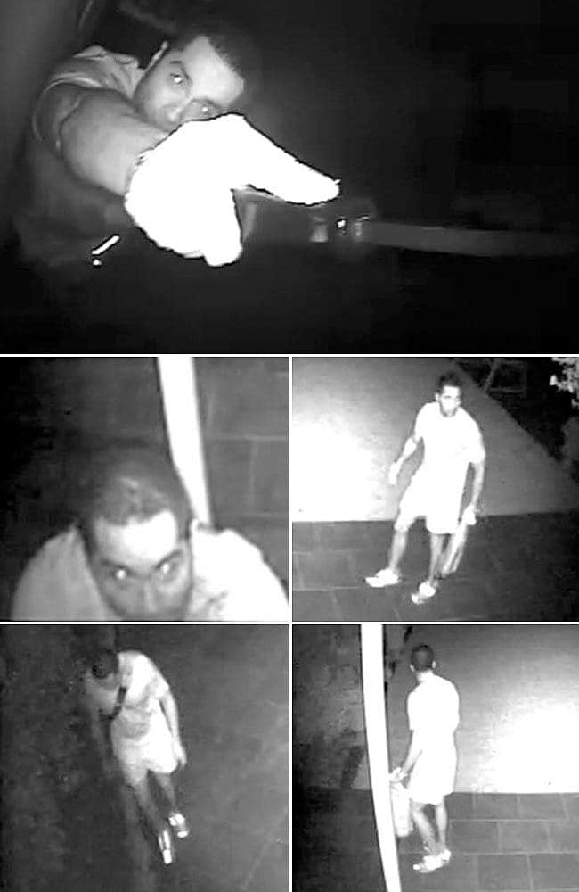 These images of Williams were caught on security cameras at various Melbourne properties