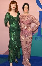 Karen Elson and Sarah Sophie Flicker attend the 2017 CFDA Fashion Awards at Hammerstein Ballroom on June 5, 2017 in New York City. Picture: Dimitrios Kambouris/Getty Images