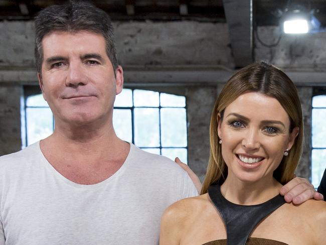 Simon Cowell and Dannii Minogue reportedly had a love affair when shooting The X Factor. Picture: Supplied