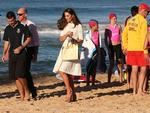 The Duchess of Cambridge during a visit to Manly Beach