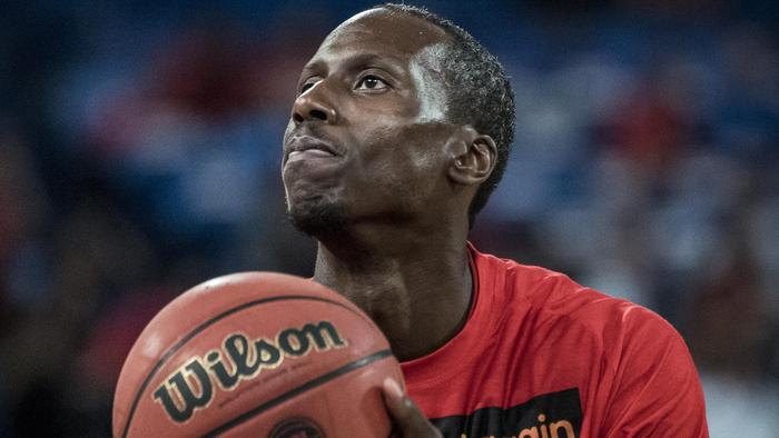 Andre Ingram of the Perth Wildcats warms up before the NBL League match between Wildcats and the Illawarra Hawks at the Arena in Perth, on Friday, Oct. 21, 2016. The Wildcats won 80-73. (AAP Image/Tony McDonough NO ARCHIVING, EDITORIAL USE ONLY