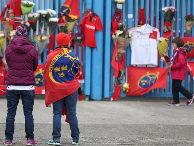 Thomond Park has become a focal point for fans to pay tribute to Foley.