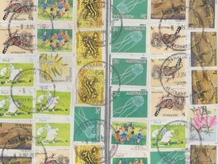 In Black & White column: Package posted with 36 stamps including some from 1979.