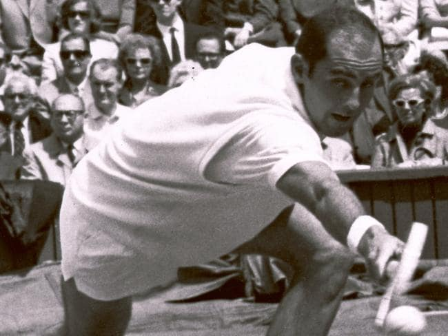 Past glory... Hewitt competes during a tennis match at Wimbledon in 1965.