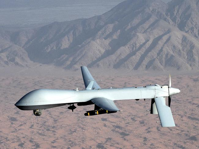 GlobalSecurity.org imagery analyst Tim Brown said that the length of the runway suggests Area 6 is used for small planes or remotely piloted aircraft such as Predator Drone, pictured here. Picture: Supplied.