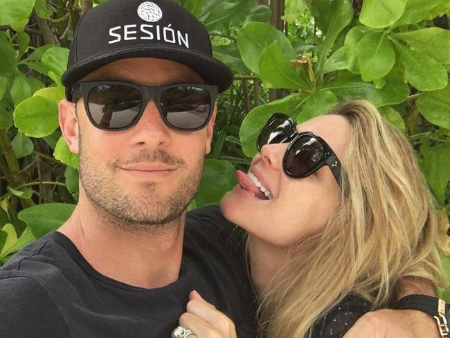 Jake Wall and Jennifer Hawkins have their own tequila brand called Sesion. Picture: Instagram.