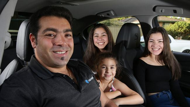 Gorizio Di Censo, 44, completed a Ian Luff defensive driving course to become a better driver and help teach his daughter how to drive. Picture: Jonathan Ng