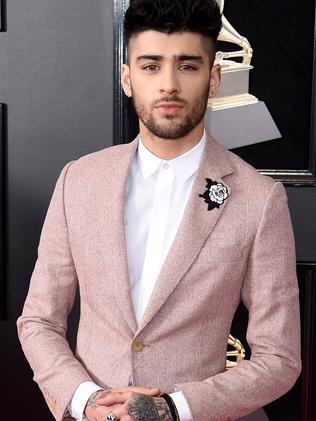 Zayn Malik at the Grammy Awards on January 28, 2018 in New York. Picture: Getty Images