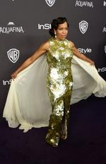 Regina King arrives in regal fashion InStyle and Warner Bros. 73rd Annual Golden Globe Awards Post-Party. Picture: Frazer Harrison/Getty Images