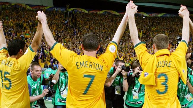 Jubilation after Australia beat Croatia.