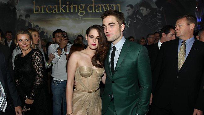 On-again, off-again couple Kristen Stewart, left, and Robert Pattinson attend the world premiere of The Twilight Saga: Breaking Dawn Part II in LA last year.