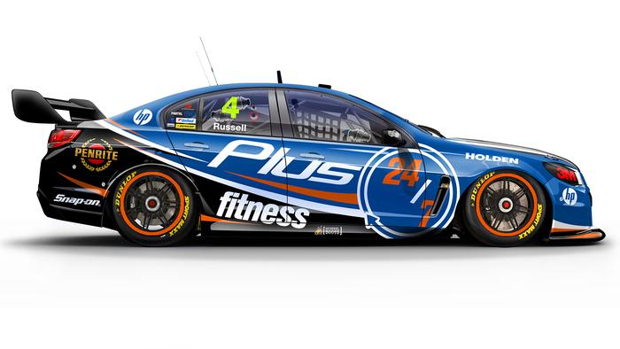 Aaren Russell's No. 4 Plus Fitness Holden Commodore.