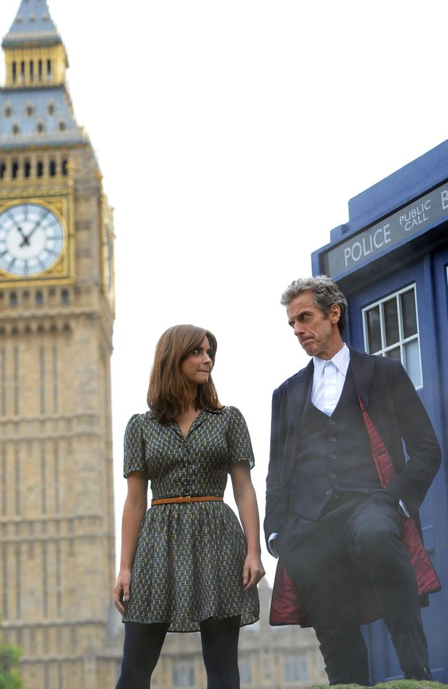 A new journey ... Peter Capaldi and Jenna Coleman from the new BBC series of Dr Who in London, England. Picture: Stuart C. Wilson/Getty Images