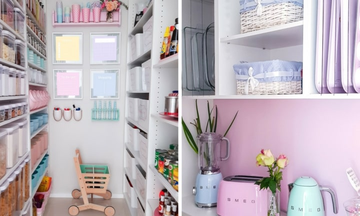 This pastel paradise is the pantry of our dreams
