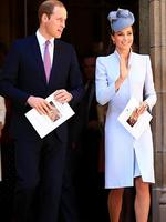 Prince William and Duchess Kate attended church this morning at St Andrew Cathedral in Sydney. Picture: Adam Taylor