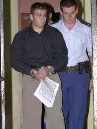 Bassam Hamzy after his arrest in 1998. Picture: News Limited.