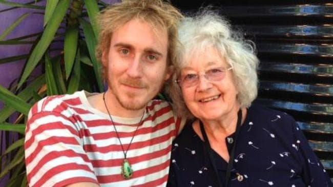 Owen Hughes (left) pictured with his grandmother.