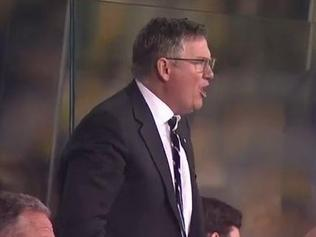 Eddie McGuire was off his seat screaming at his Magpies in the final quarter.