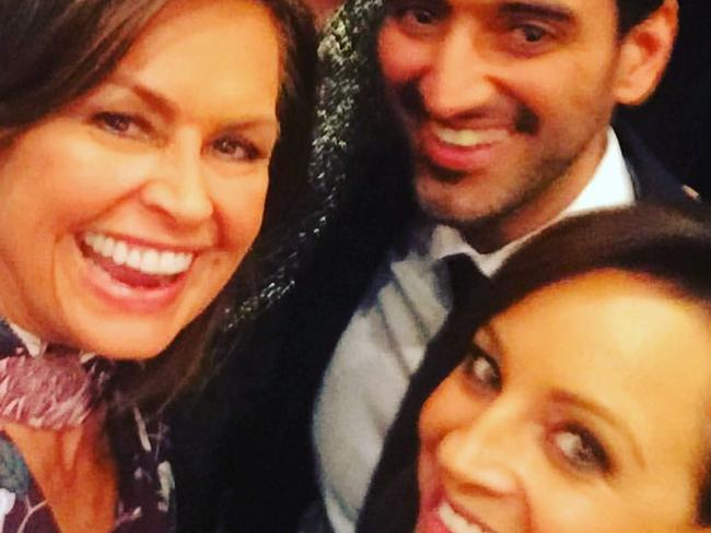 Carrie Bickmore congratulates Lisa Wilkinson after Wilkinson announced she would be leaving Today on Channel Nine to take up a position on rival network Ten.  Picture: Instagram @bickmorecarrie