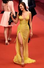 "Irina Shayk attends the ""Hikari (Radiance)"" screening during the 70th annual Cannes Film Festival at Palais des Festivals on May 23, 2017 in Cannes, France. Picture: Getty"