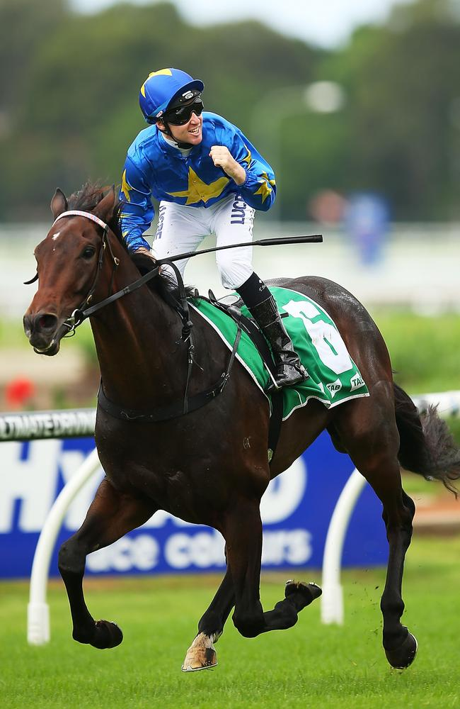 Tommy Berry and The Offer win the NE Manion Cup at Rosehill Gardens in March. Picture: Getty Images