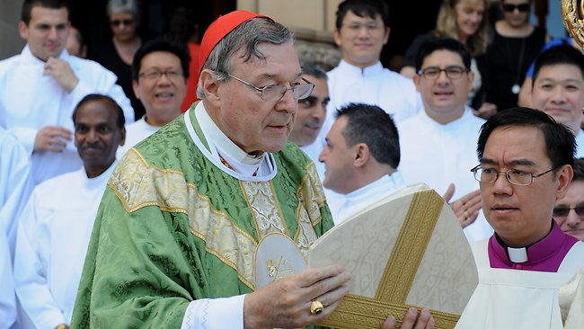 Archbishop of Sydney Cardinal George Pell, pictured after mass yesterday, has questioned whether a Commission would serve any purpose.