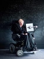 Professor Stephen Hawking in the University of Cambridge.Picture: Headpress