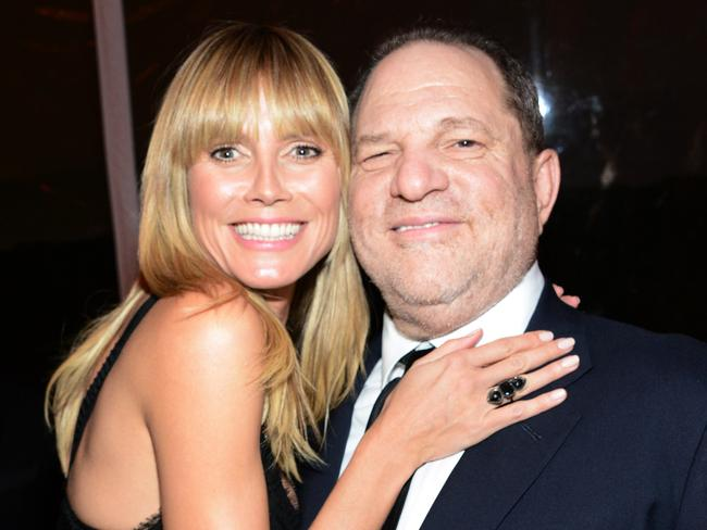 Model and TV personality Heidi Klum and producer Harvey Weinstein in 2014. Picture: Araya Diaz/Getty Images for The Weinstein Company