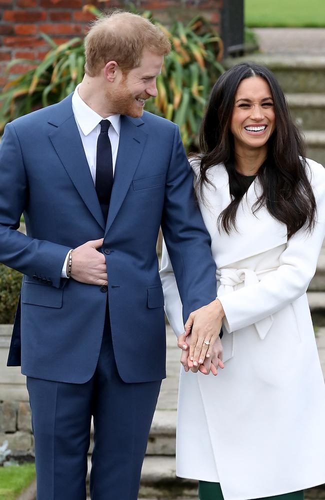 Prince Harry and actress Meghan Markle announced their engagement in November 2017. Picture: Chris Jackson/ Getty Images.