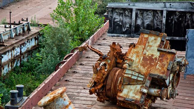 An old engine of the ship. Picture: Vladimir Mulder/Caters News