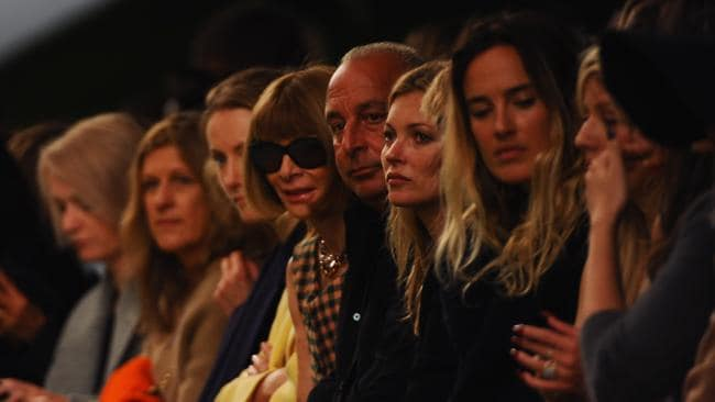 #spotto: Anna Wintour, Philip Green and Kate Moss attend the Topshop Unique show during London Fashion Week SS14. Picture: Samir Hussein/Getty Images