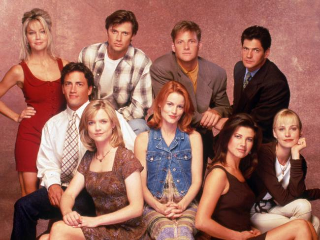Melrose Place circa 1995. Very few of these people were in the series finale four years later. Picture: AP