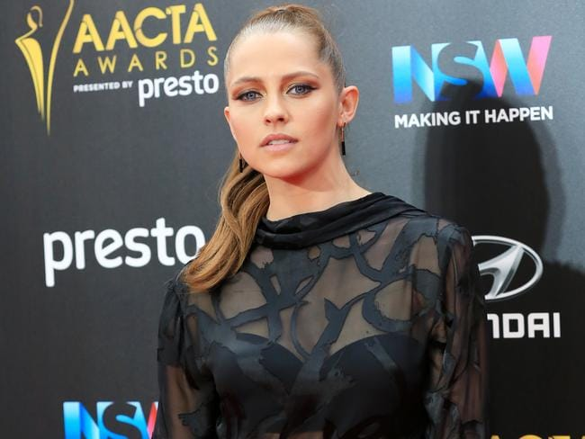 Always stunning on the red carpet — Teresa Palmer pictured at the 5th Annual AACTA Awards Ceremony in December. Picture: Christian Gilles