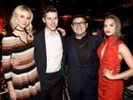 Modern Family stars Nolan Gould and Rico Rodriguez at the Netflix Emmys after party with Isabel May (left) and Paris Berelc (right). Picture: Shutterstock / Splash News