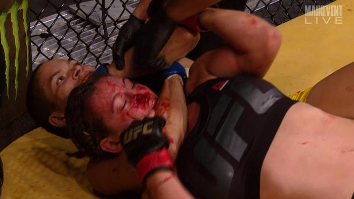 Meisha Tate taps out.