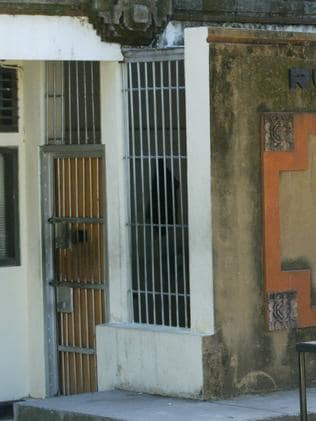A cell at Polda Police Station in Denpasar, Indonesia, where Ellis has been imprisoned since his arrest in January.