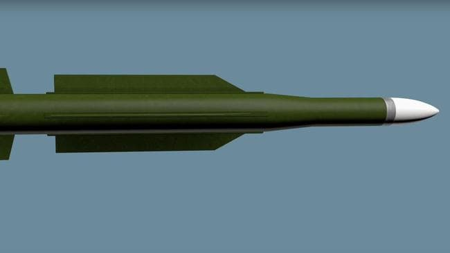 A recreation of the missile that shot down MH17.