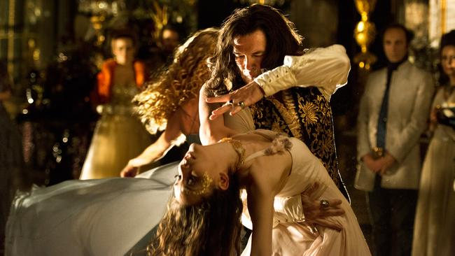 In action ... Pierce Brosnan, as King Louis XIV, dances in a scene from film The Moon and the Sun.