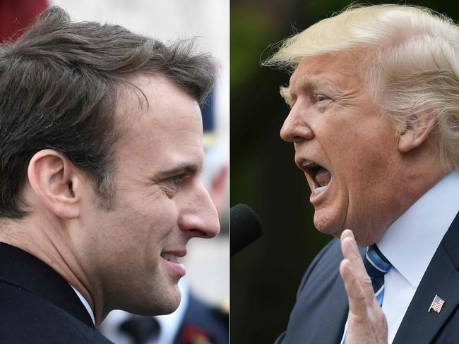 French president-elect Emmanuel Macron is to meet US President Donald Trump later this month and climate change conversations may be testy. Pictures: Stephane De Sakutin, Mandel Ngan